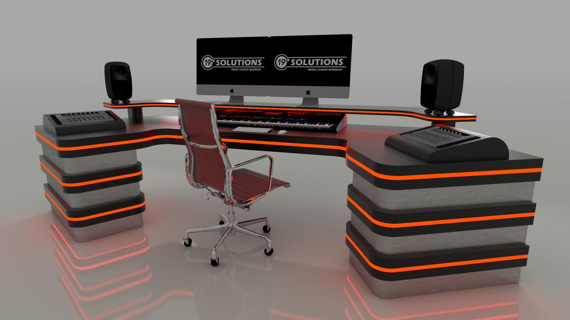 Black Custom Studio Desk