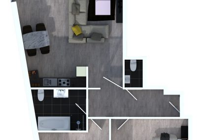 Sprockhövel 12 - Bovenaanzicht appartement 4