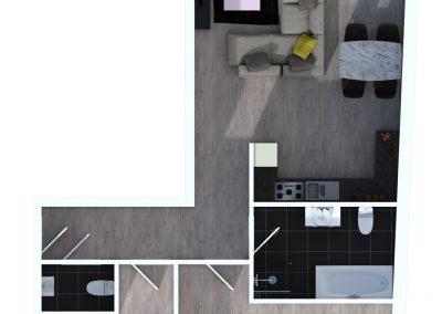 Sprockhövel 14 - Bovenaanzicht appartement 6