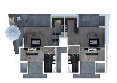 Sprockhövel 15 - Bovenaanzicht verdieping 2